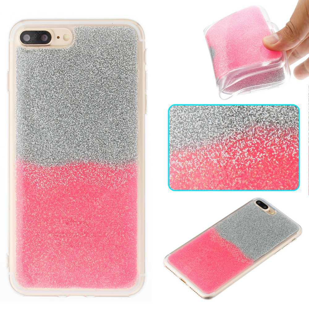 Flash Powder Painted Two-Color TPU Phone Case for Iphone 8 Plus / 7 Plus