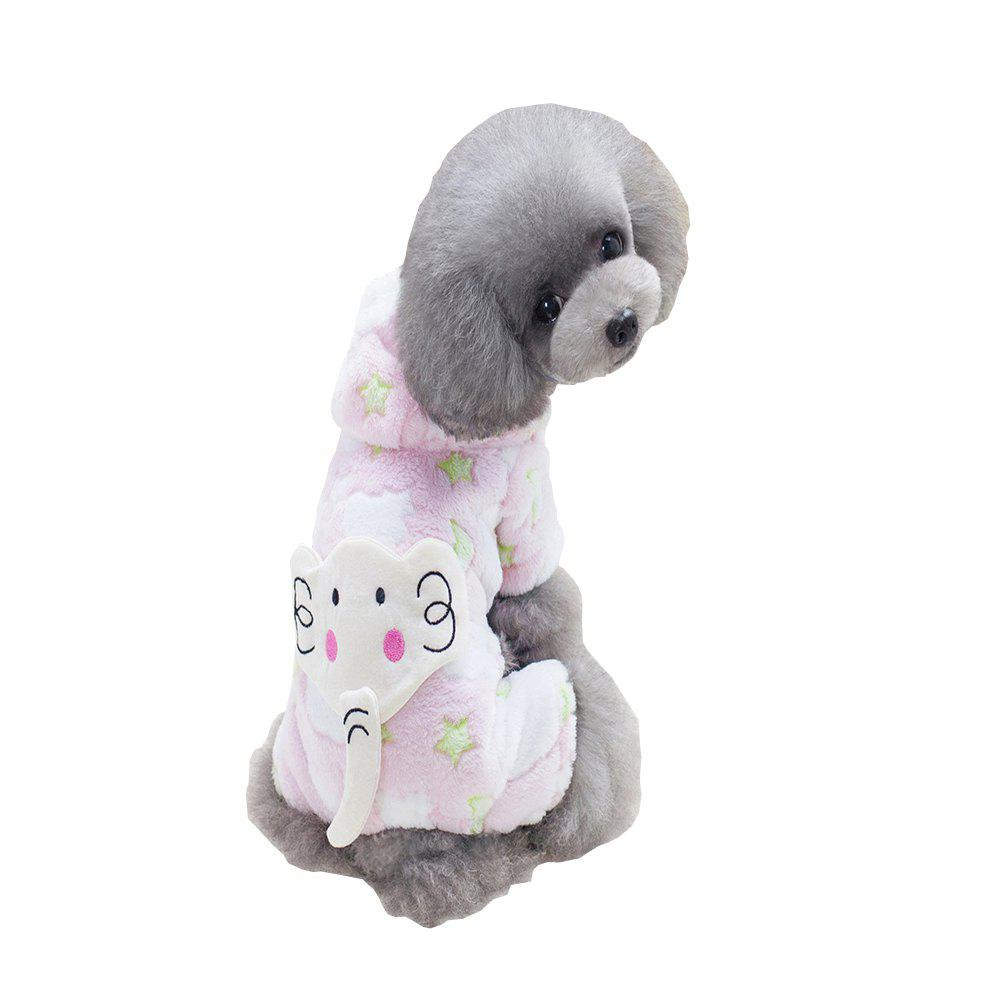 PINK XL Lovoyager A76 Dog cute Baby Elephant Four-Legged Sweater