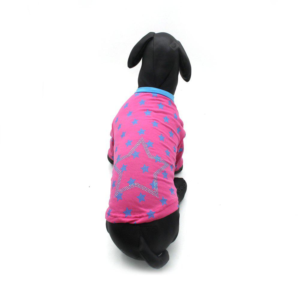 Lovoyager LVTS17001 Pet Clothes Summer Dog T-Shirt Star Pattern
