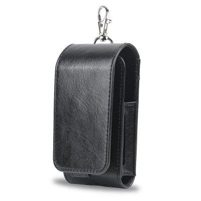 Premium PU Leather Electronic cigarette Vape Case with Belt Ring