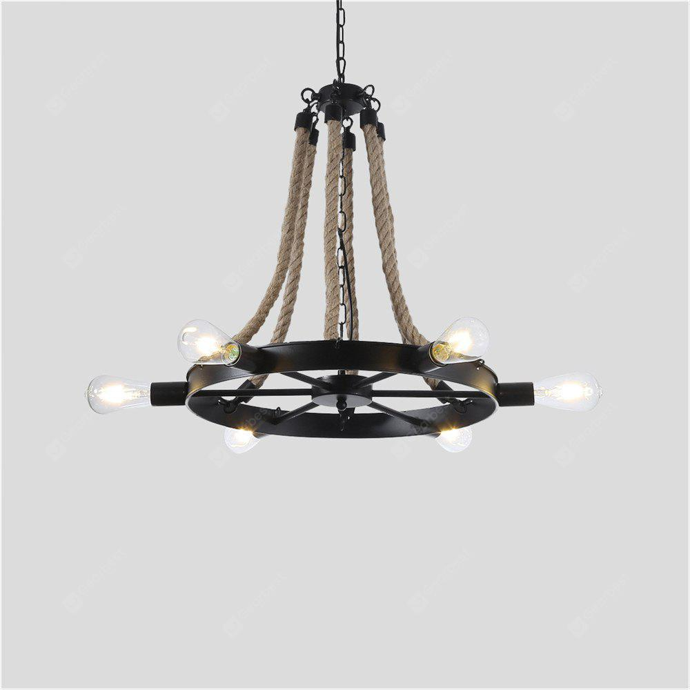 hemp metal products lamp scenario light home lighting pendant rope ceiling and