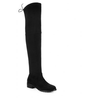 Women's Above Knee Boots Solid Color Sexy High Heel Boots