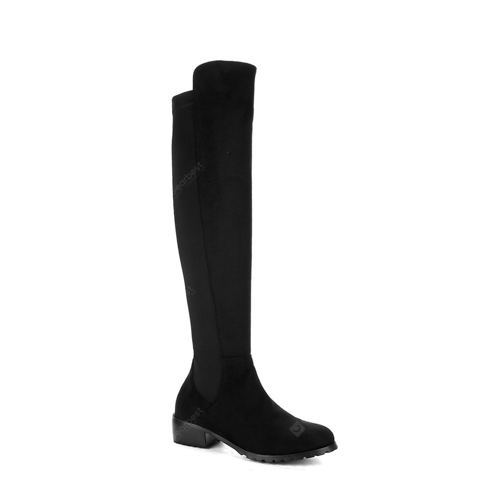 Women's Above Knee Boots Solid Color Ladylike Elegant Faddish Shoes