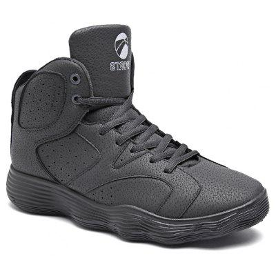 Buy GRAY 42 Men Shoes High Heel Sports Shoes Basketball Shoes Tide Shoes Autumn and Winter for $39.35 in GearBest store