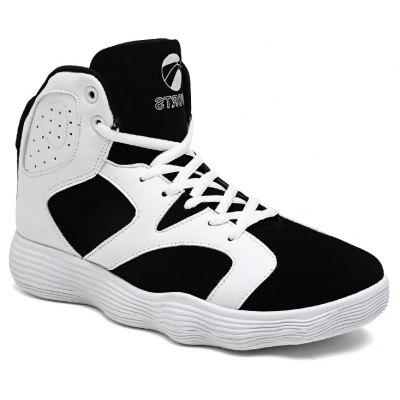 Buy BLACK WHITE 41 Men Shoes High Heel Sports Shoes Basketball Shoes Tide Shoes Autumn and Winter for $39.35 in GearBest store
