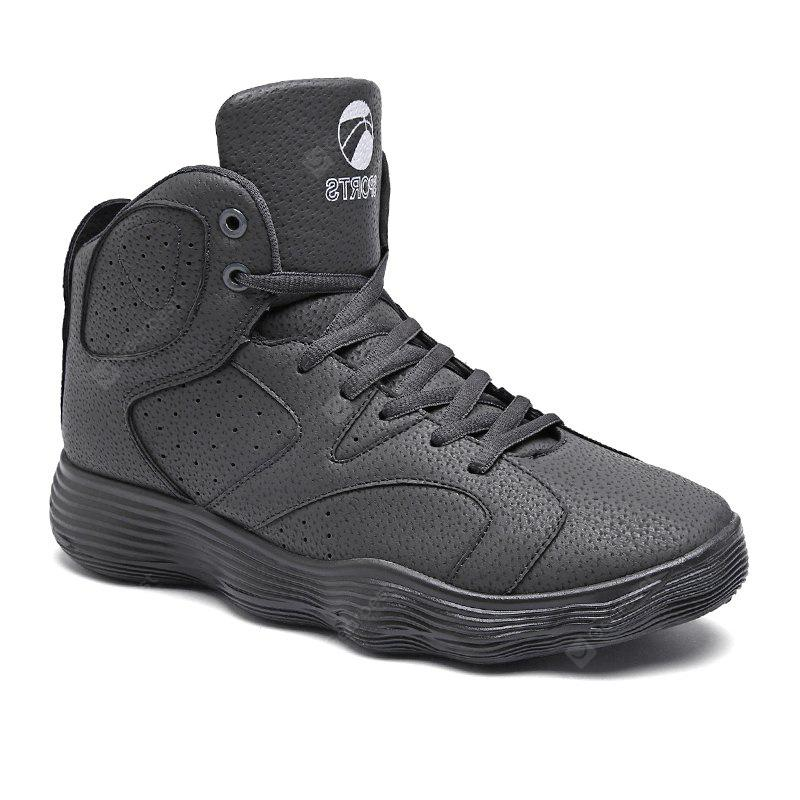 GRAY 44 Men Shoes High Heel Sports Shoes Basketball Shoes Tide Shoes Autumn and Winter