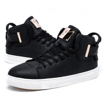 2017 Autumn and Winter Trend of High Help Board ShoesCasual Shoes<br>2017 Autumn and Winter Trend of High Help Board Shoes<br><br>Available Size: 39-44<br>Closure Type: Lace-Up<br>Embellishment: None<br>Gender: For Men<br>Outsole Material: Rubber<br>Package Contents: 1xShoes(Pair)<br>Pattern Type: Patchwork<br>Season: Spring/Fall<br>Toe Shape: Round Toe<br>Toe Style: Closed Toe<br>Upper Material: Leather<br>Weight: 1.2000kg