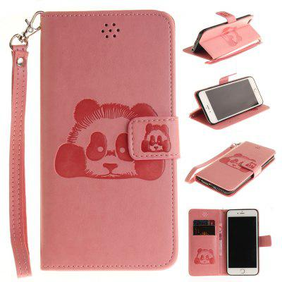 Buy PINK The Panda Mode PU+TPU Leather Wallet Case Design with Stand and Card Slots Magnetic Closure Case for Iphone 6 / 6S for $4.21 in GearBest store