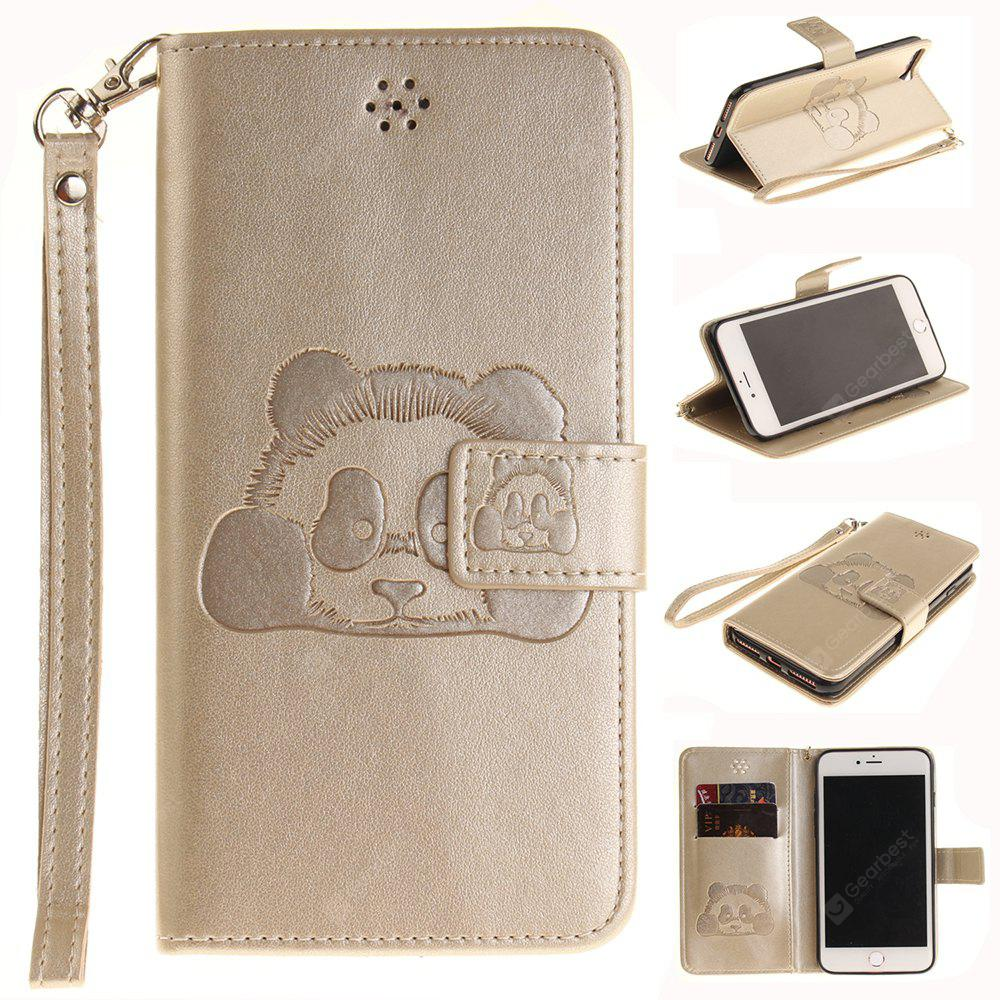 The Panda Mode PU+TPU Leather Wallet Case Design with Stand and Card Slots Magnetic Closure Case for Iphone 7 / 8