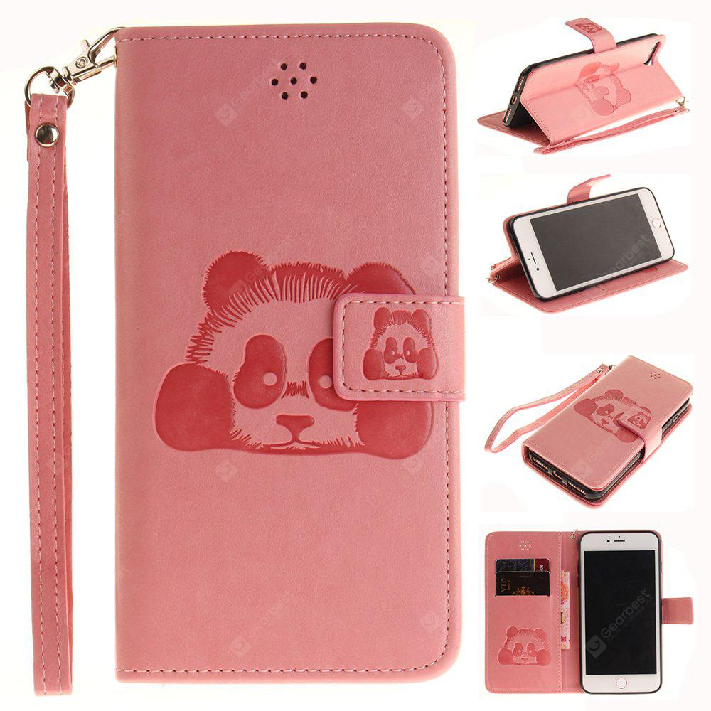PINK The Panda Mode PU+TPU Leather Wallet Case Design with Stand and Card Slots Magnetic Closure Case for Iphone 7 / 8