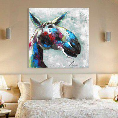 Xiangyunchengfeng Canvas Oil Paintingho Modern Horse Home Decoration / Wall Art - ColormixOil Paintings<br>Xiangyunchengfeng Canvas Oil Paintingho Modern Horse Home Decoration / Wall Art - Colormix<br><br>Craft: Oil Painting<br>Form: One Panel<br>Material: Canvas<br>Package Contents: 1 x Painting<br>Package size (L x W x H): 55.00 x 55.00 x 7.00 cm / 21.65 x 21.65 x 2.76 inches<br>Package weight: 4.0000 kg<br>Painting: Include Inner Frame<br>Product weight: 2.0000 kg<br>Shape: Square<br>Style: Rectangle, Modern / Contemporary, Animal<br>Subjects: Animal<br>Suitable Space: Living Room,Bedroom,Dining Room,Office,Hotel,Cafes,Kids Room,Corridor,Hallway,Kids Room,Study Room / Office,Boys Room,Girls Room,Game Room