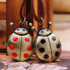 Cute  Beetles Table Cartoon Pocket Watch - BLACK 2R2610#