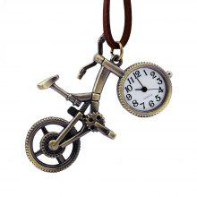 Fashion Cartoon Bicycle Pocket Watch
