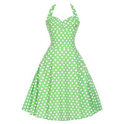 Womens Summer Dresses 2017 Women Maggie Tang 50S 60S Robe Vintage Retro Pin Up Swing Polka Dot Tea Rockabilly Party Dress