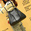 PU Leather Luxury Style Soft Tote Top Handle Shoulder Crossbody Bag Satchel Purse Handbag for Women - BLACK