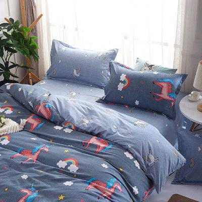 DYY Fashion Unicorn Personalized Polyester Bedding SetBedding Sets<br>DYY Fashion Unicorn Personalized Polyester Bedding Set<br><br>Package Contents: 2 x Pillowcase,1 x Bed Sack, 1 x Sheet<br>Package size (L x W x H): 29.00 x 17.00 x 2.20 cm / 11.42 x 6.69 x 0.87 inches<br>Package weight: 1.6000 kg<br>Pattern Type: Novelty, Random pattern<br>Style: Fresh / Rural, Scenery / Landscape