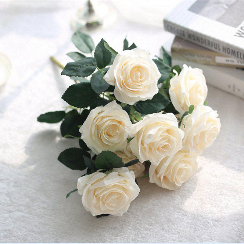 XM European Style Hemming Rose Home Decoration Wedding Artificial Flower 45CM 10 Count