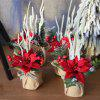 XM Christmas Flower Pine Cone Combination Bonsai Holiday Decoration Artificial Flower 30CM - RED
