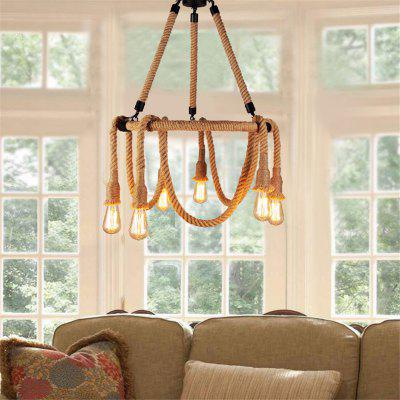 CXYlight DD - 039 American Retro Village Iron Pendant LampPendant Light<br>CXYlight DD - 039 American Retro Village Iron Pendant Lamp<br><br>Battery Included: No<br>Brand: CXYLight<br>Bulb Base: E26,E27<br>Bulb Included: No<br>Chain / Cord Adjustable or Not: Chain / Cord Not Adjustable<br>Chain / Cord Length ( CM ): 30<br>Dimmable: No<br>Features: Wrought Iron<br>Fixture Height ( CM ): 58<br>Fixture Length ( CM ): 60<br>Fixture Width ( CM ): 60<br>Light Direction: Ambient Light<br>Number of Bulb Sockets: 6<br>Package Contents: 1 x Light, 1 x Assembly Part<br>Package size (L x W x H): 61.00 x 61.00 x 18.00 cm / 24.02 x 24.02 x 7.09 inches<br>Package weight: 3.4000 kg<br>Product size (L x W x H): 60.00 x 60.00 x 58.00 cm / 23.62 x 23.62 x 22.83 inches<br>Product weight: 2.5000 kg<br>Remote Control Supported: No<br>Shade Material: No<br>Stepless Dimming: No<br>Style: Artistic Style, Country, Modern/Contemporary<br>Suggested Room Size: 20 - 30?<br>Suggested Space Fit: Cafes,Dining Room,Game Room,Kitchen,Office<br>Type: Pendant Light<br>Voltage ( V ): 110 - 120,220 - 240