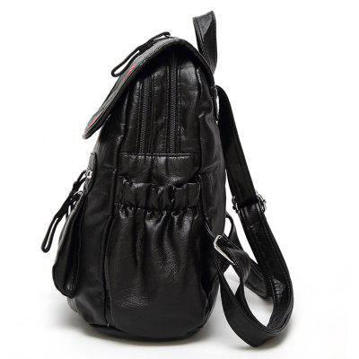 Single Shoulder Bag College Wind Backpack Leisure Bag Travel BagBackpacks<br>Single Shoulder Bag College Wind Backpack Leisure Bag Travel Bag<br><br>Backpack Capacity: &lt;20L<br>Capacity: 11 - 20L<br>For: Casual, Other, Work, Traveling, Sports<br>Gender: Unisex<br>Material: PU Leather<br>Package Contents: 1 x Backpack<br>Package size (L x W x H): 30.00 x 16.00 x 33.00 cm / 11.81 x 6.3 x 12.99 inches<br>Package weight: 0.5000 kg<br>Strap Length: 43<br>Style: Cool, Leisure, Sport, Business, Fashion<br>Type: Backpack