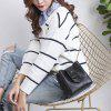 Fashion Casual Drawstring Bucket Bag Retro Handbag Tote Bag for Women With Shoulder Strap - BLACK