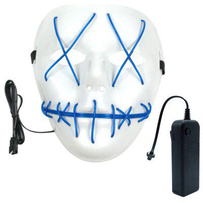 BRELONG Halloween Mask Ghost Slit Mouth Light Up Glowing EL Wire  Fashion  Costume  For Party