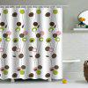 PAG Shower Curtain Mouldproof Waterproof Toilet Bathroom 180 x 180 cm - WHITE AND GREEN