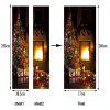 DSU Christmas Fireplace Wall Sticker Mural Bedroom Door Poster Home Decor - MIXED COLOR