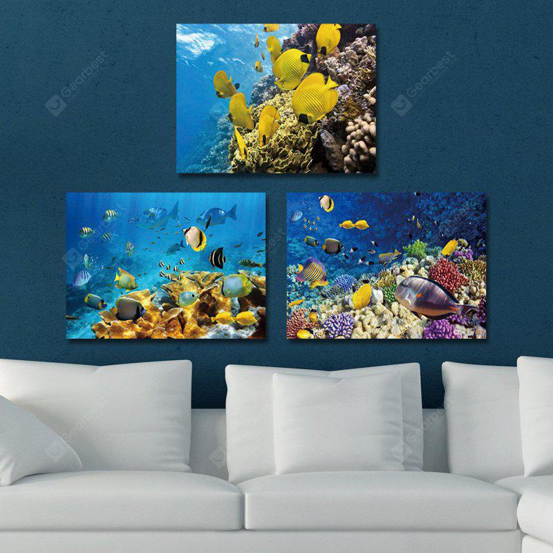 DYC 10205 3PCS Landscape of World in Sea Print Art Ready to Hang Paintings