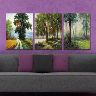 DYC 10212 3PCS Landscape Print Art Ready to Hang PaintingsPrints<br>DYC 10212 3PCS Landscape Print Art Ready to Hang Paintings<br><br>Brand: DYC<br>Craft: Oil Painting<br>Form: Three Panels<br>Material: Canvas<br>Package Contents: 1 x Set of Print Arts<br>Package size (L x W x H): 34.00 x 44.00 x 8.00 cm / 13.39 x 17.32 x 3.15 inches<br>Package weight: 1.2000 kg<br>Painting: Include Inner Frame<br>Shape: Horizontal Panoramic<br>Style: Landscape, Scenery / Landscape<br>Subjects: Landscape<br>Suitable Space: Living Room,Office