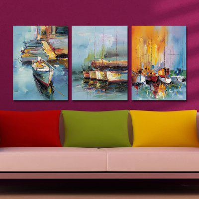 DYC 10213 3PCS Impression Boats Print Art Ready to Hang PaintingsPrints<br>DYC 10213 3PCS Impression Boats Print Art Ready to Hang Paintings<br><br>Brand: DYC<br>Craft: Oil Painting<br>Form: Three Panels<br>Material: Canvas<br>Package Contents: 1 x Set of Print Arts<br>Package size (L x W x H): 34.00 x 44.00 x 8.00 cm / 13.39 x 17.32 x 3.15 inches<br>Package weight: 1.2000 kg<br>Painting: Include Inner Frame<br>Shape: Horizontal Panoramic<br>Style: Landscape, Scenery / Landscape<br>Subjects: Landscape<br>Suitable Space: Living Room,Corridor,Kids Room,Study Room / Office