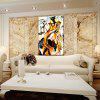 Hua Tuo Abstract Oil Painting 60 x 90CM OSR - 160355 - YELLOW AND BLACK