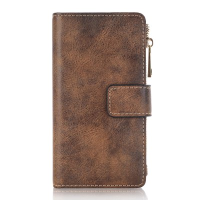 Crazy Horse Texture 2 in 1 Leather Wallet Case with Zipper for iPhone 7 / 8