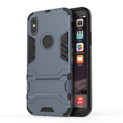 TPU + PC 3 in 1 Armor Hybrid Case with Stand for iPhone XiPhone Cases/Covers<br>TPU + PC 3 in 1 Armor Hybrid Case with Stand for iPhone X<br><br>Compatible for Apple: iPhone 7, iPhone X<br>Features: Cases with Stand, Dirt-resistant<br>Material: PC, TPU<br>Package Contents: 1 x Phone Case<br>Package size (L x W x H): 18.00 x 9.00 x 1.00 cm / 7.09 x 3.54 x 0.39 inches<br>Package weight: 0.0320 kg<br>Product weight: 0.0250 kg<br>Style: Solid Color