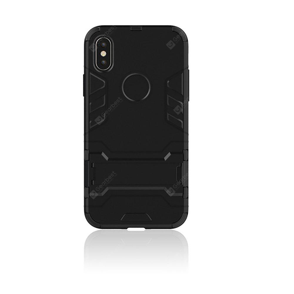 TPU + PC 3 in 1 Armor Hybrid Case with Stand for iPhone X
