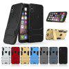 TPU + PC 3 in 1 Armor Hybrid Case with Stand for iPhone X - BLACK