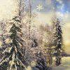 Christmas Gift Series White Pure Forest Painting Pillow Cover - 混合色(COLORMIX)