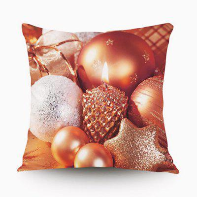 Christmas Gift Series Golden Egg Surprise Flannel Material Pillow Cover