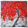 3D Trees Painting Style Pattern Painting Style Red Peach Blossom Pillow Cover - 混合色(COLORMIX)