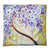 3D Flower Trees Painting Style Series Of Three-dimensional Pattern Painting Style Cloth Purple Flowers Pillow Cover - 混合色(COLORMIX)