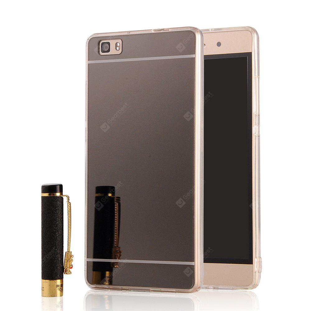 Luxury Mirror Back Shock-absorption TPU Bumper Anti-Scratch Bright Reflection Protective Case for HUAWEI Honor P8 Lite