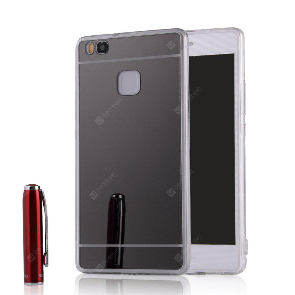 Luxury Mirror Back Shockproof TPU Bumper Anti-Scratch Bright Reflection Protective Case for HUAWEI Honor P9 Lite