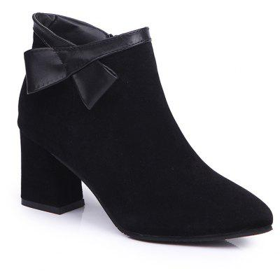 Buy BLACK 39 Martin Pointed All-Match Boots with Thick Boots Boots and Frosted Ankle Boots. for $55.00 in GearBest store