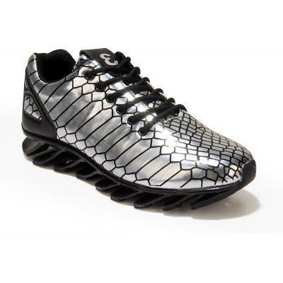 Men'S Knife Shoes Mirror Printed Reflective Tide Shoes Sports Shoes
