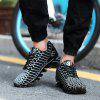Men'S Knife Shoes Mirror Printed Reflective Tide Shoes Sports Shoes - BLACK