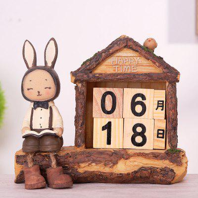Creative Setting Rabbit Desktop Calendar Novel Decoration