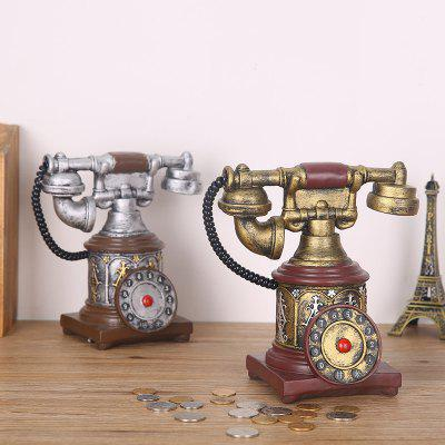 754 1PCS European Retro Crafts Vintage Telephone Piggy BankHome Gadgets<br>754 1PCS European Retro Crafts Vintage Telephone Piggy Bank<br><br>Material: Resin<br>Package Contents: 1 x Furnishing articles<br>Package Quantity: 1<br>Package size (L x W x H): 30.00 x 15.00 x 22.00 cm / 11.81 x 5.91 x 8.66 inches<br>Package weight: 0.2000 kg<br>Product size (L x W x H): 28.00 x 12.00 x 20.00 cm / 11.02 x 4.72 x 7.87 inches<br>Product weight: 0.1500 kg<br>Style: Fashion