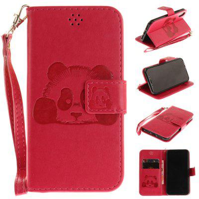 Buy ROSE RED The Panda Mode PU+TPU Leather Wallet Case Design with Stand and Card Slots Magnetic Closure for iPhone X for $4.35 in GearBest store