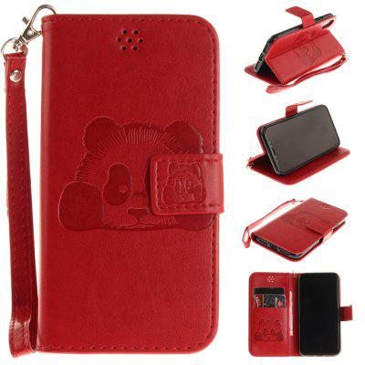 Buy RED The Panda Mode PU+TPU Leather Wallet Case Design with Stand and Card Slots Magnetic Closure for iPhone X for $4.35 in GearBest store