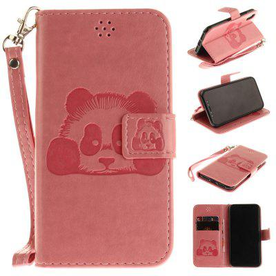 Buy PINK The Panda Mode PU+TPU Leather Wallet Case Design with Stand and Card Slots Magnetic Closure for iPhone X for $4.35 in GearBest store